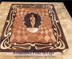 strahlender Boden intarsien tafellparkett medaillon